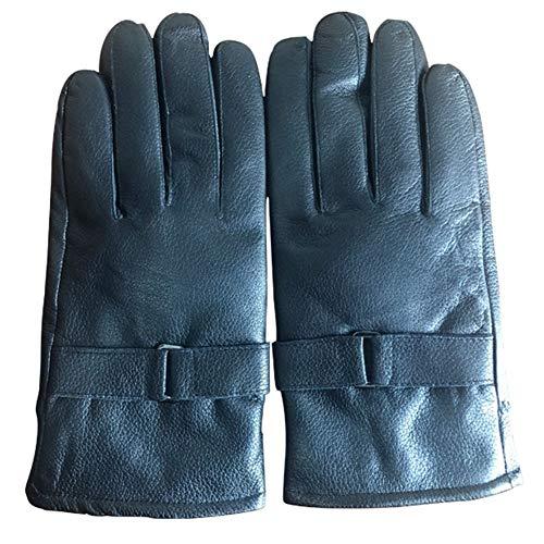 Glqwe winterhandschoenen van leer voor heren, liefhebbers van wandeltochten in de kinderwagen van geitenleer voor camping, warme winter, velours, sport in de open lucht