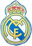 Real Madrid Cojin 3D Escudo, Multicolor, 40 x 40 cm