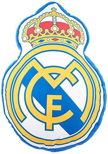 Real Madrid Cojin 3D Escudo, Multicolor,...