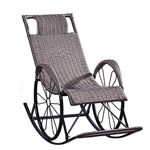 Chaise longue Patio Inclinant des Meubles, des Tapis et des Salles D'été de Jardin de Chambres Inclinables avec La D'extérieur de Gravité Zéro Rembourrée Réglable des (Color : Gold)