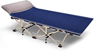 Rollaway Camping Cot Single Be'd with Metal Frame, Portable Foldable Folding Guest Be'ds for Adults, Support 150kg, 190x71...