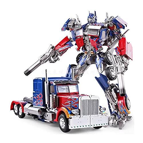 WJYLM Transformers Spielzeug, KO Transformers Film Commander Optimus Prime Super Legierung Bewegliche Puppe Roboter Modell Spielzeug Geschenk Krieg Um Cybertron Earthrise Packen.