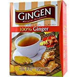 Gingen Bebida natural de jengibre 100% (10 s x 5 g) 50 g – Una bebida refrescante y equilibrante, maravillosa caliente o fría, lista al instante, sin azúcar añadida