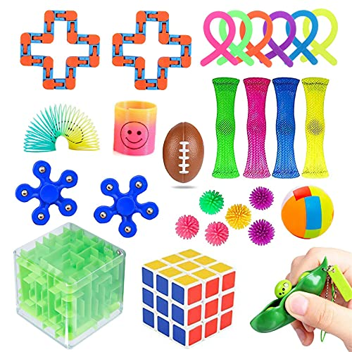 GIONAR Sensory Fidget Toys - 28 Pack Relieves Stress and Anxiety Fidget Toy for Adults Kids, Gifts for Birthday Party Favors, Classroom Rewards Prizes