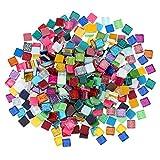 MILISTEN 300G Tessere di Mosaico di Colori Misti Pezzi di Vetro Mosaico per La Decorazione Domestica O Fai da Te Quadrati