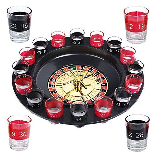 Schramm® Trinkspiel Roulette inkl. Geschenkverpackung Party Spiel Saufspiel für Erwachsene