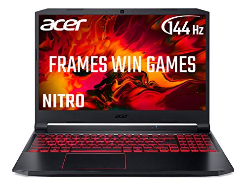 Acer Nitro 5 AN515-44 15,6 Zoll Gaming Laptop (AMD Ryzen 5 4600H Mobile Prozessor, 8 GB RAM, 512 GB SSD, NVIDIA GTX 1650, Full HD 144Hz Display, Windows 10, Schwarz)