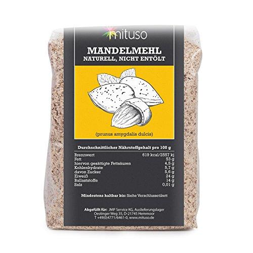 mituso Mandelmehl, naturell, Premium Qualität, 1er Pack (1 x 500g) im Beutel