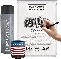 happylandgifts® Reale propietà a New York Fan di New York e degli USA | Certificato di proprietà con Il Nome Desiderato...