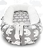 Uaugh Baby Lounger Sleeper Nest,100% Breathable Soft Cotton Co-Sleeping Nest Bed for Newborn,Portable Reversible Adjustable for Crib Bassinet Mattress, Baby Gifts Essential 0-8 Month (Elephant)