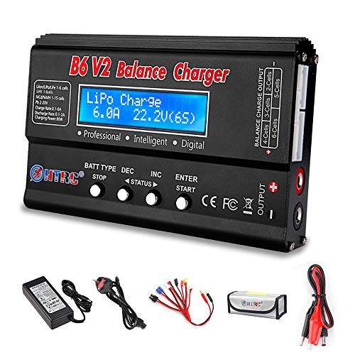 Haisito LiPo Battery Charger RC Car Balance Charger, 1S-6S Digital...