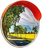 F.L.S Espejo de Tráfico Convexo de Seguridad Tráfico Espejo Exterior Pc Gran Angular Espejo Carretera Espejo Convexo Espejo Volviendo Garaje anticolisión Espejo Rincón de prevención (Size : 60cm)