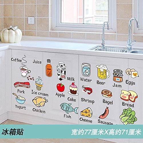 Etiqueta del gabinete de cocina Etiqueta del gabinete a prueba de agua Etiqueta de la puerta del armario Etiqueta de la pared pequeña y fresca Autoadhesivo-9. Imán de nevera extra grande