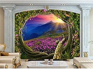 Duleen 3D Mural Wallpaper Custom Made Decoration Kids Magic Garden Fairies Painting Tv Background Wall Sticker 250Cmx180Cm|98.42(in) X70.86(in)
