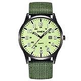 DAYLIN Relojes Hombre Reloj Analógico de Cuarzo Impermeable Calendario Relojes Deportivos para Hombre Reloj Negro Digital de Pulsera Regalos para el Dia del Padre