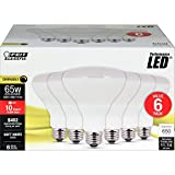 FEIT Electric BR30DM/10KLED/6 65W Equivalent 10.5 Watt 650 Lumen Dimmable LED BR30 Flood Light Bulb, 5'H x 3.75'D, 2700K Soft White, 6 Piece