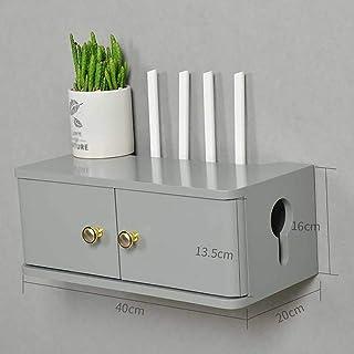 Los estantes flotantes Set-Top Box Shelf Sólido Mabador de TV Caja de blindaje de zócalo, TV flotante Mueble de tv Mueble ...