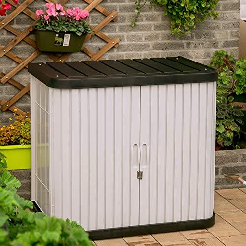 Outdoor Storage Locker Werkzeugkasten Abschließbare Speicher-Schließfach Außen Garten Balkon...
