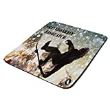 Skateboard Bigfoot Sasquatch - Mouse Pad Thick Neoprene Rectangle for Home Office & Gamers (use as a Water Proof hot pad,Trivet,Mousepad)