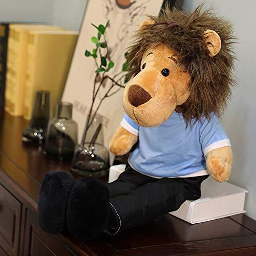 15 cm-125cm koreanische minomi Spielzeug gefüllter löwe lee Minho könig Lion Puppe Teddy Tier anhänger weiche Puppe Kinder Spielzeug Geschenk für sie Laimi (Color : Azul, Size : 90cm)