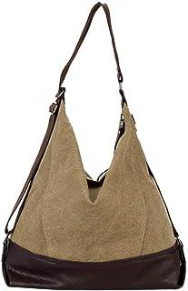 Shoulder Bag Women's Casual Canvas Handbag Shopping Shoulder Bag Travel Crossbody Bag Handbag Clutch (Color : Khaki)