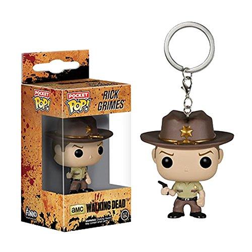 Funko - Porte cle Walking Dead - Rick Grimes Sangue Splattered 4cm - 0849803070755