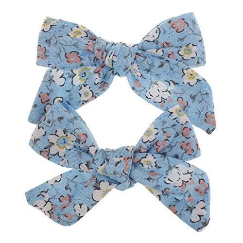 VafePd 1 paire Pinces à cheveux enfants Clip Bowknot Arc Pour enfant Floral Accessoires mignons X2