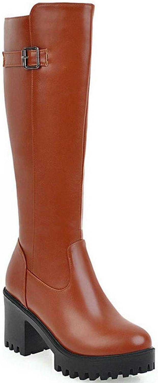 Mode Frauen Winterstiefel Mit Reißverschluss Dicke Plattform Quadratische Ferse Stiefel High Top Warme Winterschuhe Für Damen  | Qualität zuerst  | Ruf zuerst