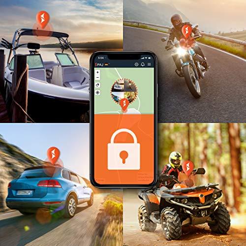 4G Motorrad und Fahrzeug GPS Tracker, Vehicle Finder 2.0 von PAJ GPS, Direktanschluss 8-32 V, Live-Ortung per App, 100 Tage Streckenspeicher, Alarmmeldungen direkt auf Ihr Handy