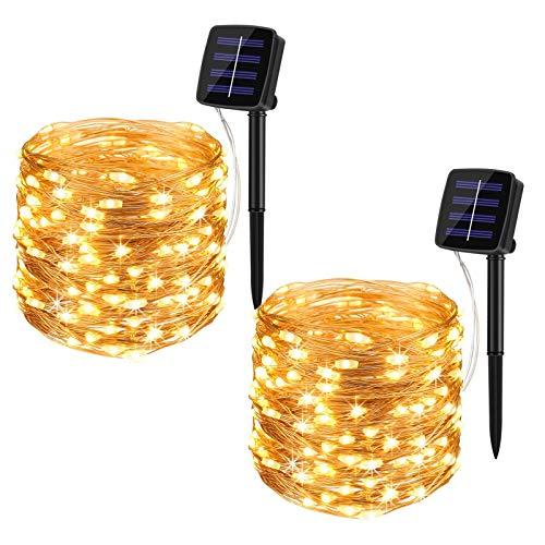 BINZET Solar Fairy Lights, 33Ft 100LEDs...