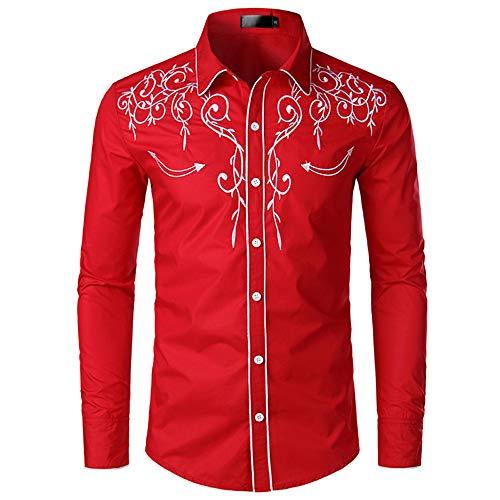 Discount Boutique Primavera y otoño Nueva Camisa de Manga Larga para Hombres Tendencia de Moda Personalidad Bordado Salvaje Camisa de Solapa Delgada Ropa de Hombre