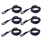 perfk - 6 Cuerdas para Guardabarros de Barco, 6,35 x 1,52 m, Color Azul