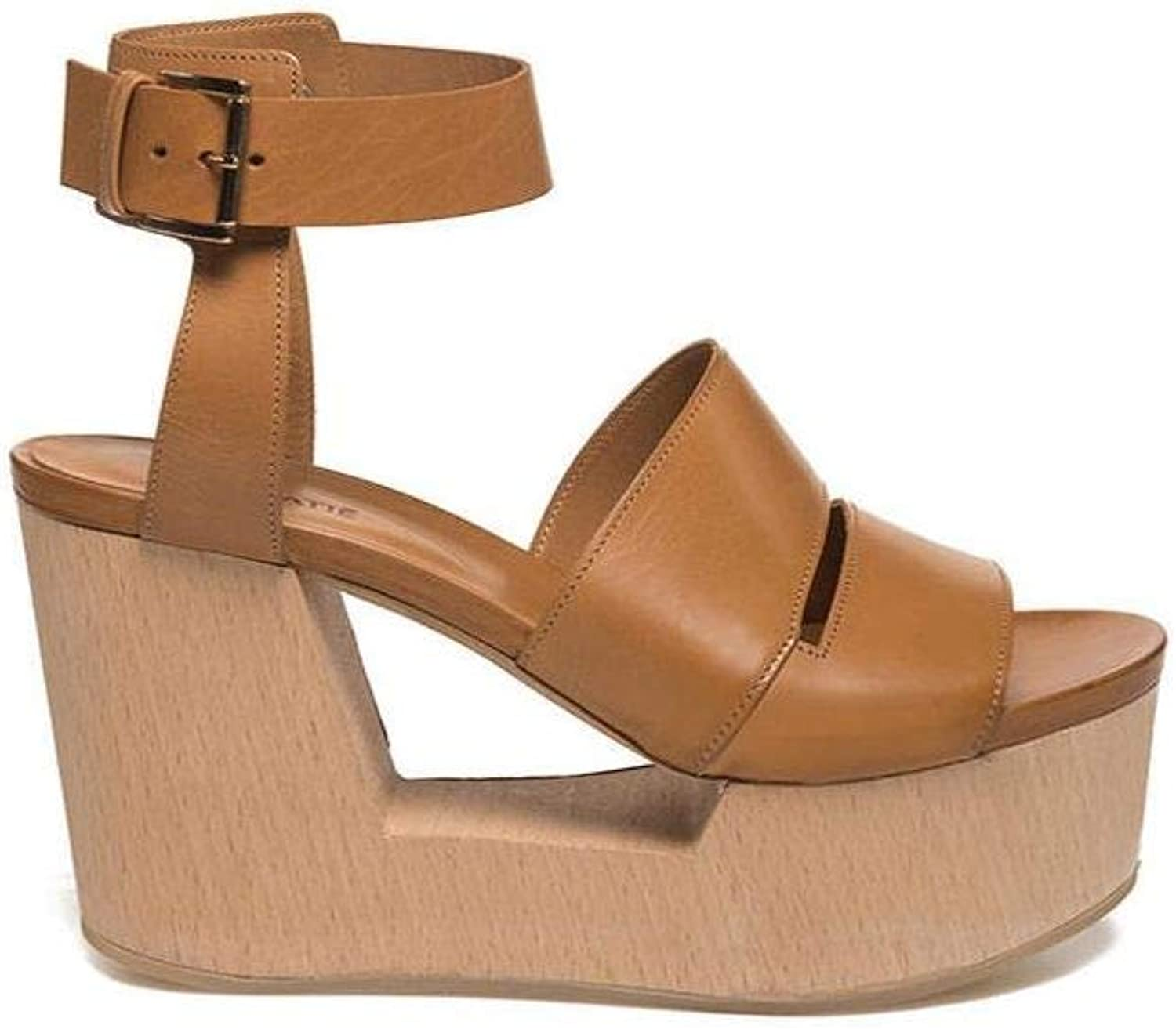 Vic Matie' - Hide-Colourot Sandal ON Perforated Wooden Wedge - 1Q5526DQ76CQQB119