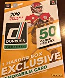 2019 Donruss Football Factory Sealed Hanger Pack Box 50 Cards Per Box with 1 HANGER BOX EXCLUSIVE MEMORABILIA CARD 4 Rookies and 4 Parallels Per Box Chase ro... rookie card picture