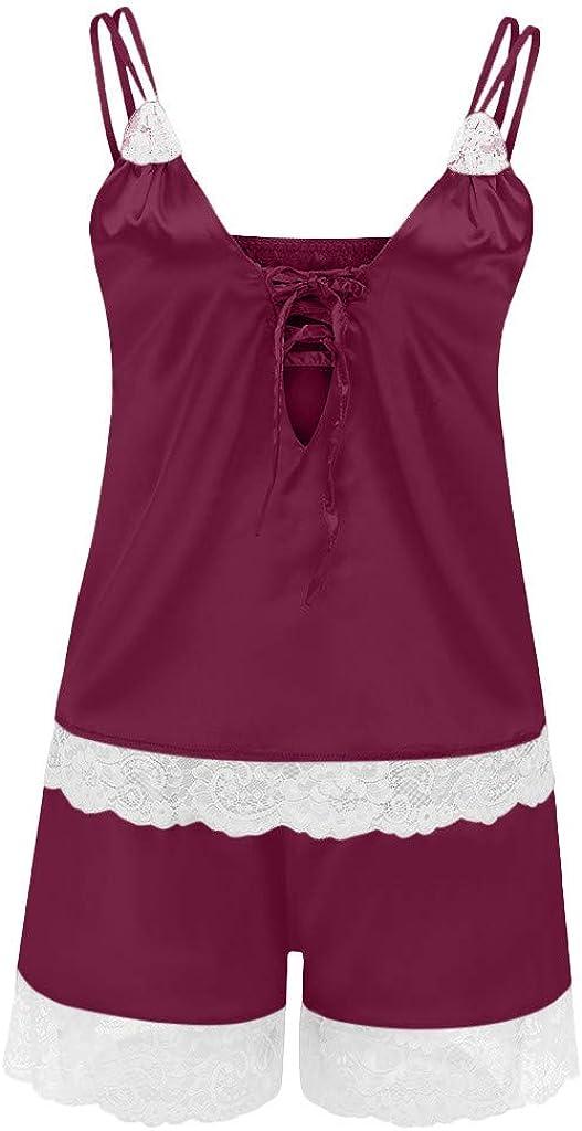 MODOQO Women's Lace Babydoll Lingerie Lace Underwear Nightdress Pajamas