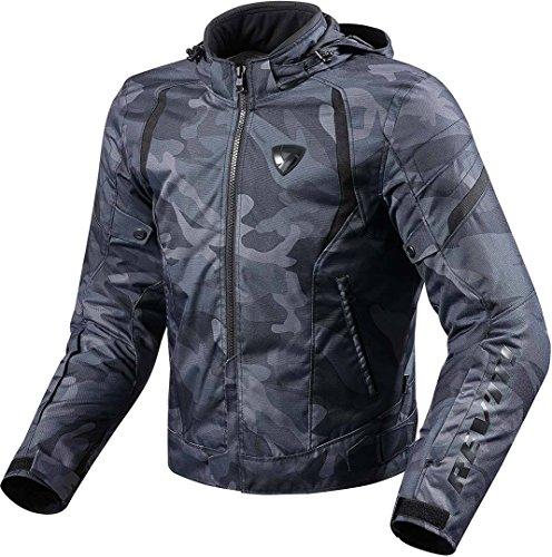 REV'IT! Motorradjacke mit Protektoren Motorrad Jacke Flare Textiljacke schwarz XL, Herren, Chopper/Cruiser, Ganzjährig