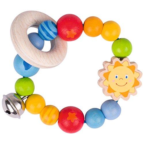 solini Le hochet Soleil jouet à saisir, naturel/multicolore