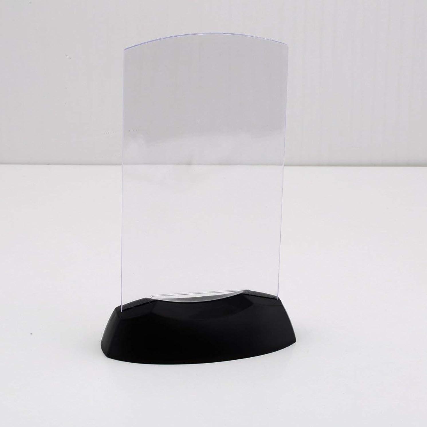 ヒロイックバタフライアノイSaikogoods デュアルサイド アクリル射出成形 クリアデザインホルダースタンド LEDライト表メニュー レストランカードディスプレイ ランダムカラー