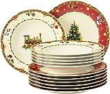 Seltmann Weiden 4052212108599 Marieluise - Vajilla (12 piezas, porcelana), diseño navideño