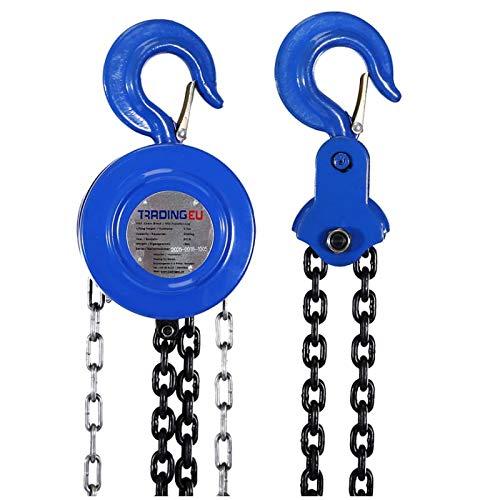 Palan palan à chaîne treuil 2000 kg / 2 t - 2,5 m / 250 cm - rond