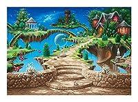 漫画シリーズジグソーパズル木製大人の子供のパズルおもちゃクリエイティブギフト家の装飾スタイル(300/500/1000個)-夢の土地 Puzzle0HW (Size : 300pcs)