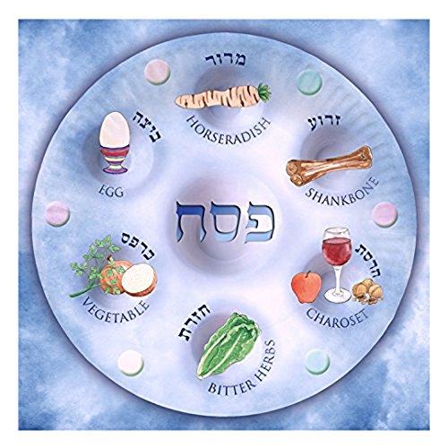 Passover Serviettes, Biodegradable Serviettes for Passover for Leil Seder, Design of Seder Plate (Paper Napkins) by Rimmon