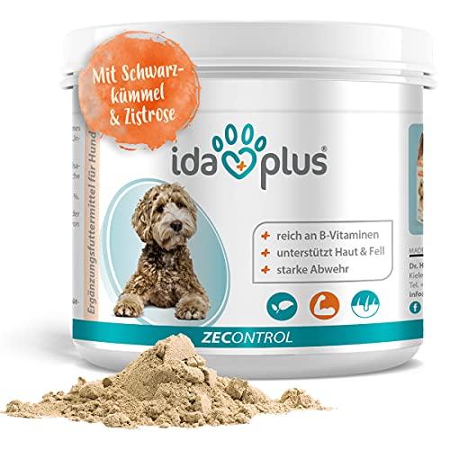 Ida Plus ZECONTROL 250g – Das natürliche Zeckenmittel für Hunde - Schwarzkümmelöl, Bierhefe, Zistrose unterstützt die Abwehr von Zecken - reich an B-Vitaminen - stärkt die natürlichen Abwehrkräfte