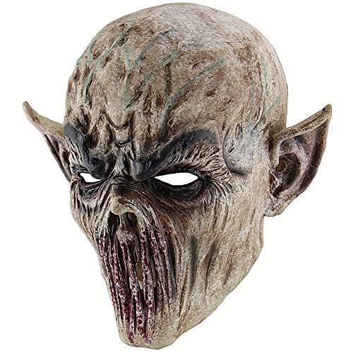JNKDSGF Horror maskerHalloween Bloody Scary Horror Mask Volwassene Zombie Monster Vampier Masker Latex Kostuum Party Volledige Hoofd Cosplay Maskerade Props