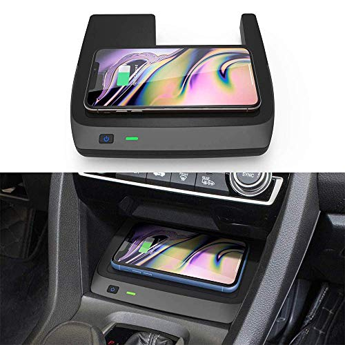 BUSUANZI Cargador inalámbrico de Coche para Honda Civic de 10a generación 2016-2020 Panel de Accesorios de Consola Central de Carga rápida de 10 W para iPhone Samsung Huawei