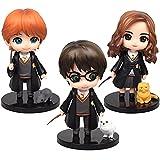Mini Figuras - Miotlsy 3PCS Harry Potter Mini Figuras Set Wizard Cake Topper Niños Mini Juguetes Fiesta de cumpleaños Pastel Decoración Suministros