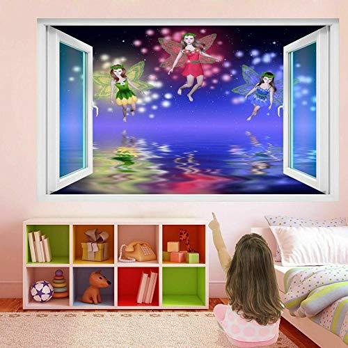Wandtattoo Fairies Fantasy Fairy Tale 3D Wall Art Sticker Decal Kids Girls Room Decor