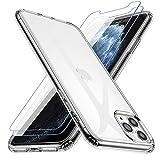 Losvick Coque pour iPhone 11 Pro, 2 Pack Verre Trempé Protection écran, Transparent Silicone TPU...