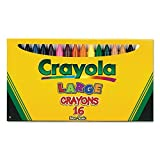 Crayola Products - Crayola - Large Crayons, 16 Colors/Box - Sold As 1 Box - Large, Durable Size. - Bright Colors. - Easy to Grip.