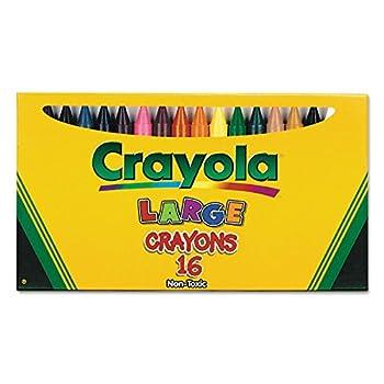 Binney & Smith Crayola R  Large Crayon Set Lift-Lid Box Assorted Colors Box Of 16